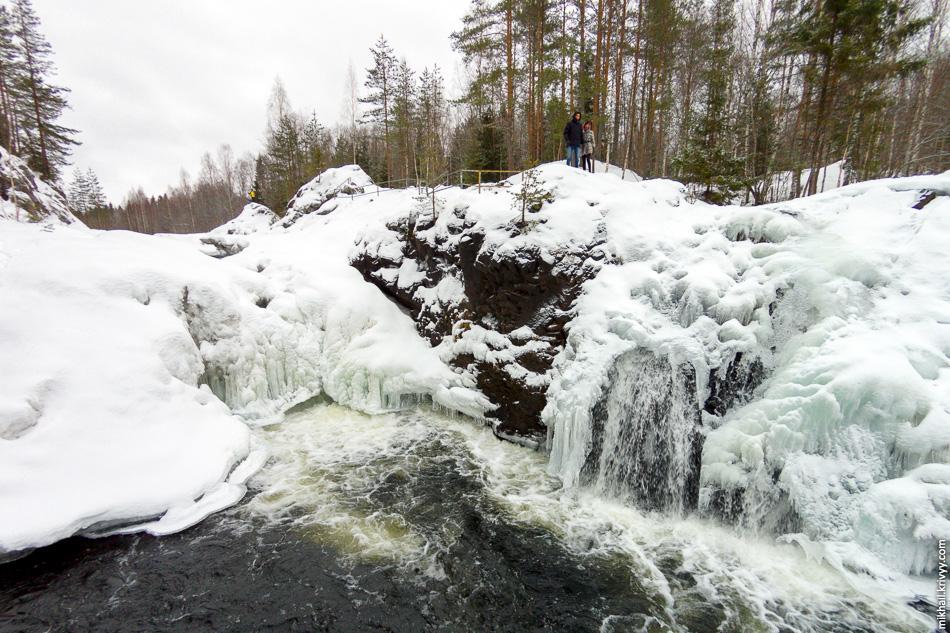 Водопад Кивач. Карелия.