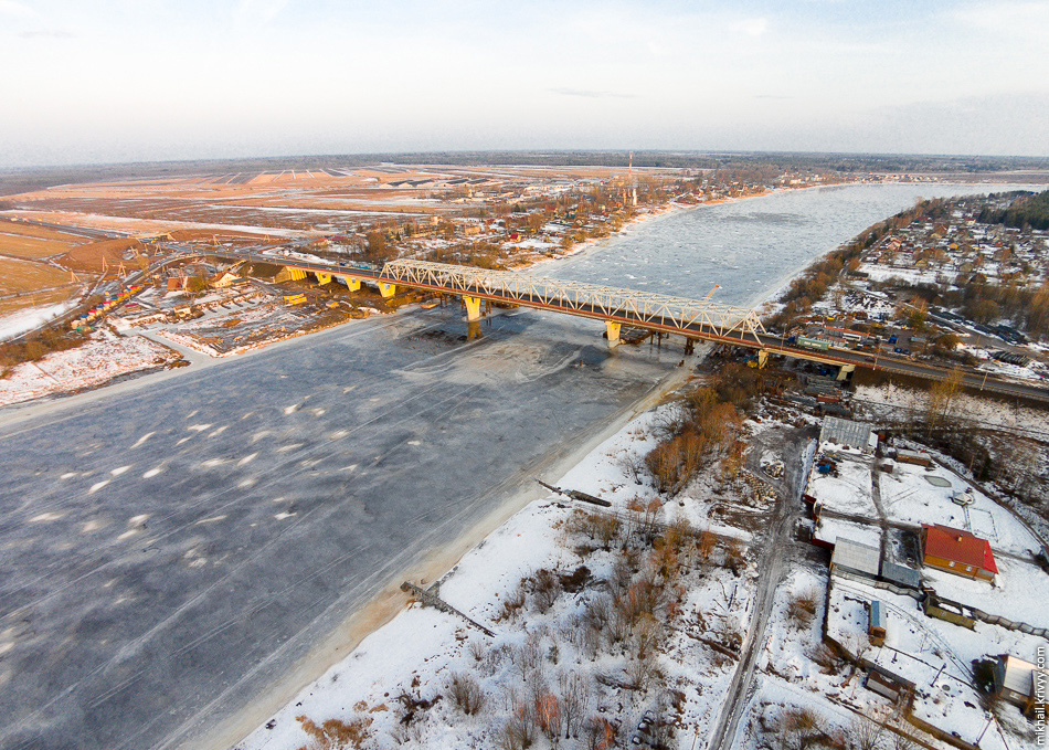 Р-21 «Кола». Мост через реку Волхов.