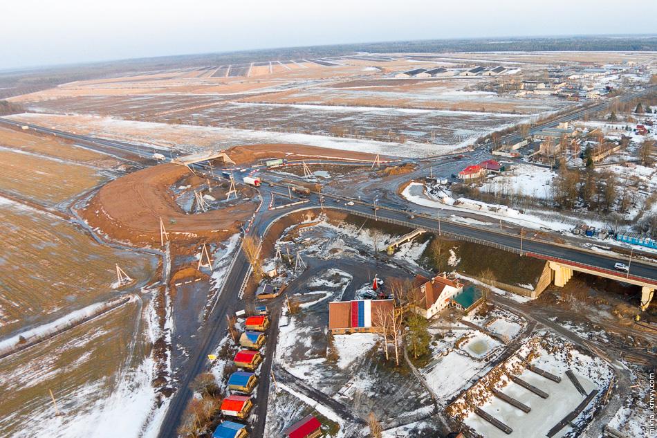 Строительство транспортной развязки на примыкании автодороги A-114 Новая Ладога - Вологда к Р-21 «Кола».