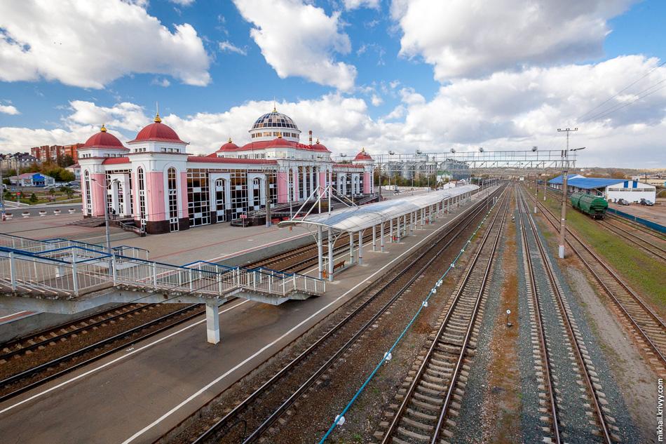 Железнодорожный вокзал Саранска.