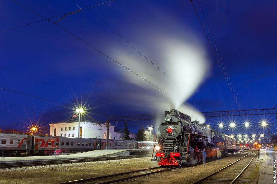 Паровоз ЛВ-0522, последний магистральный паровоз построенный в СССР.