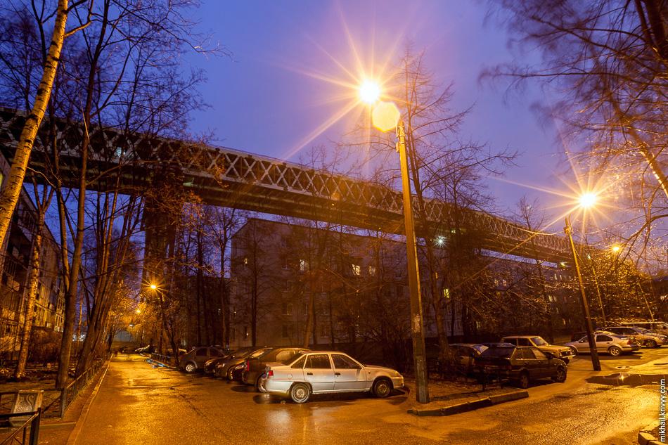 Если на мосту не установят шумозащитные экраны, то уровень шума в этом районе сильно вырастет.