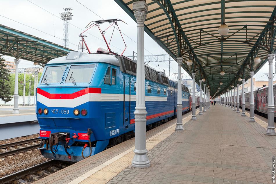 Наш первый электровоз - чехословацкий ЧС7-059.