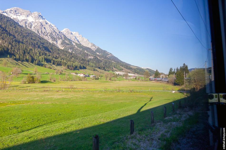 Ущелье превращается в долину и мы спускаемся к Вёрглю (Wörgl).