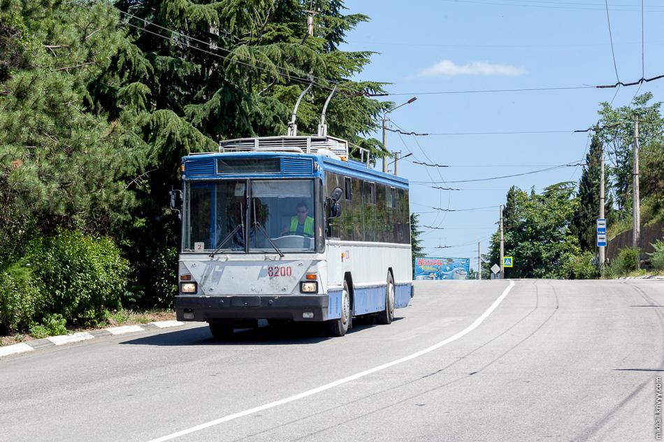 Škoda 15Tr с бортовым номером 8200, маршрут №2, Алушта.