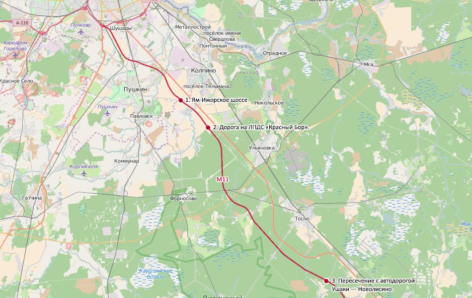 Карта для тех, кто не очень хорошо знаком с южными пригородами Санкт- 88051adc1be