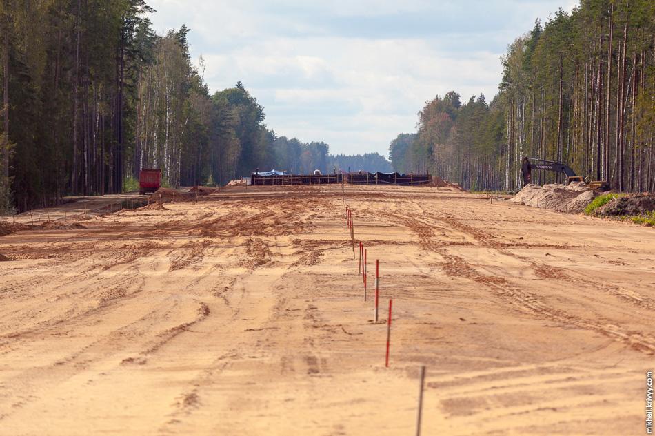 20. Вид в сторону Санкт-Петербурга. 515 км.