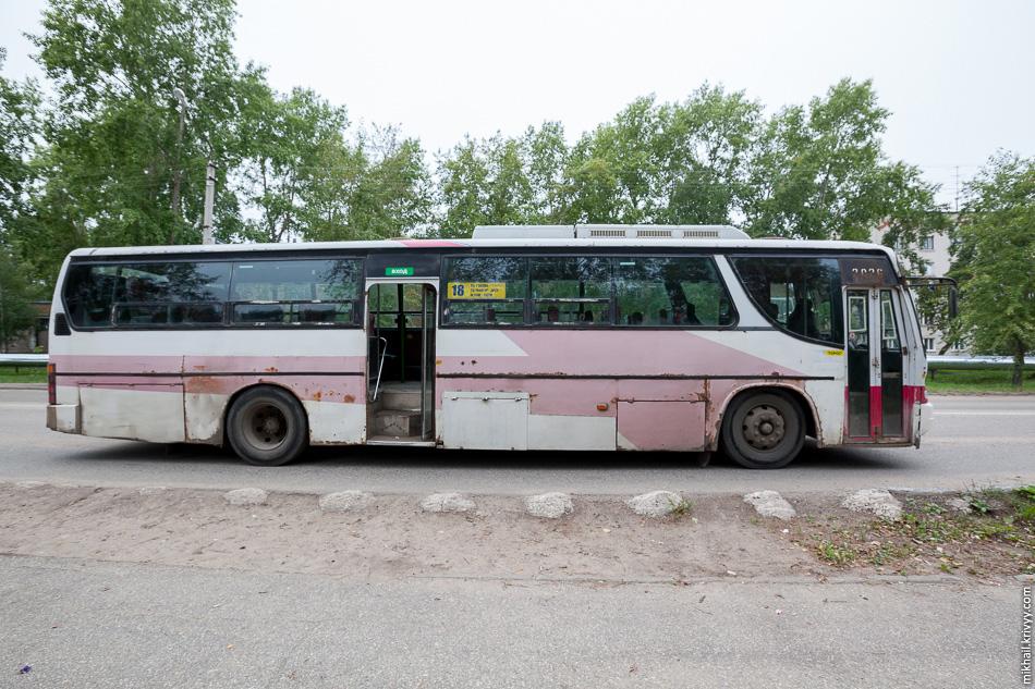 Еще один Daewoo BH116. 17 таких автобусов эксплуатируется в Приморском крае, 12 на Камчатке, 8 в Хабаровском крае. И вот 8 штук у нас на Северо-Западе, в Коми.