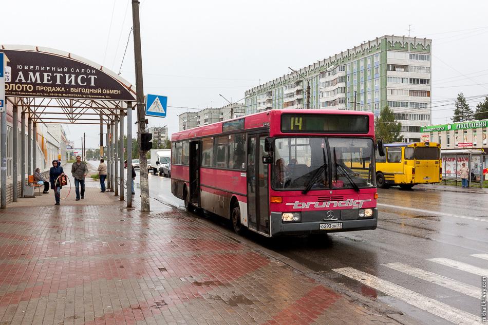 В Эжве, в отличии от основной части Сыктывкара, бывшие в употреблении автобусы из Европы не редкость.