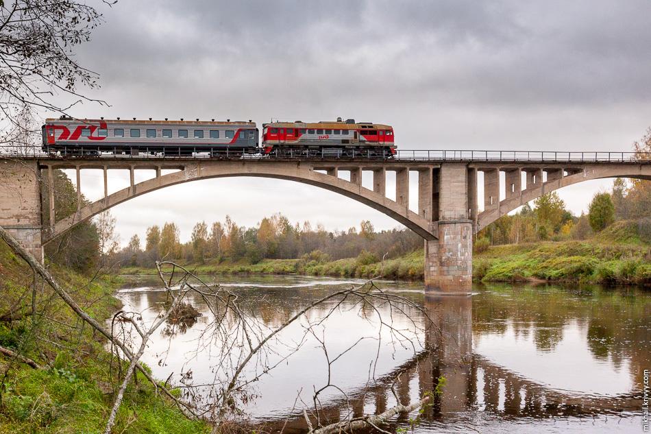 1. Мост через реку Мста на железной дороге Окуловка — Неболчи.