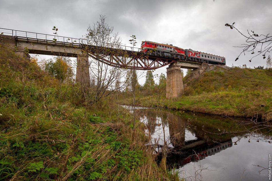 5. Построен он вместе с северной частью железной дороги Окуловка — Неболчи во время Великой Отечественной войны.