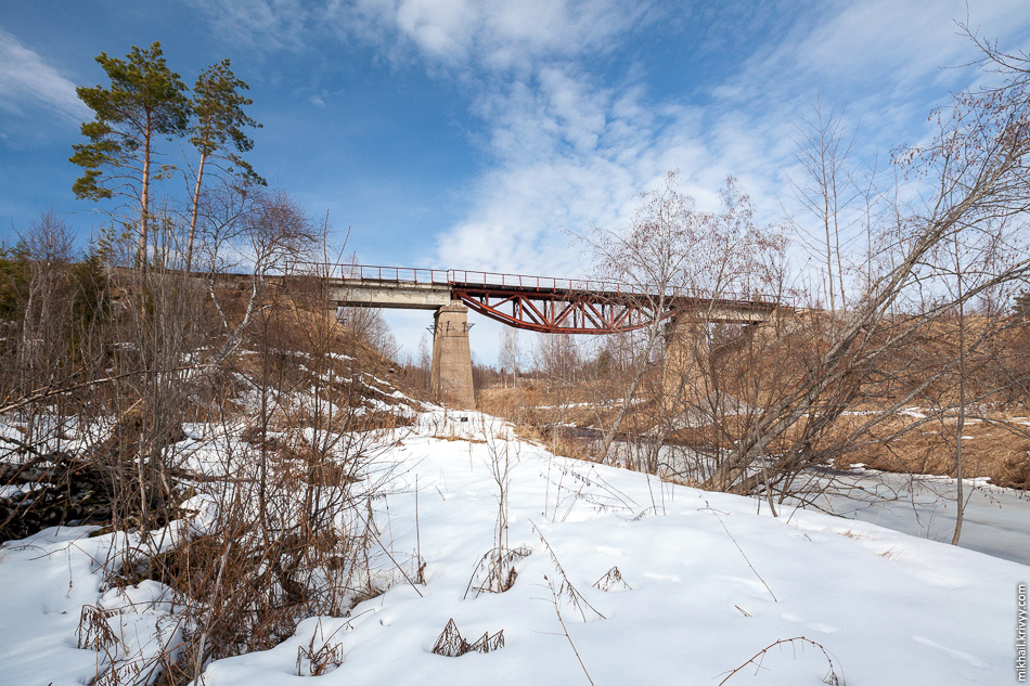 4. Второй интересный мост находится на реке Мда в районе посёлка Неболчи.