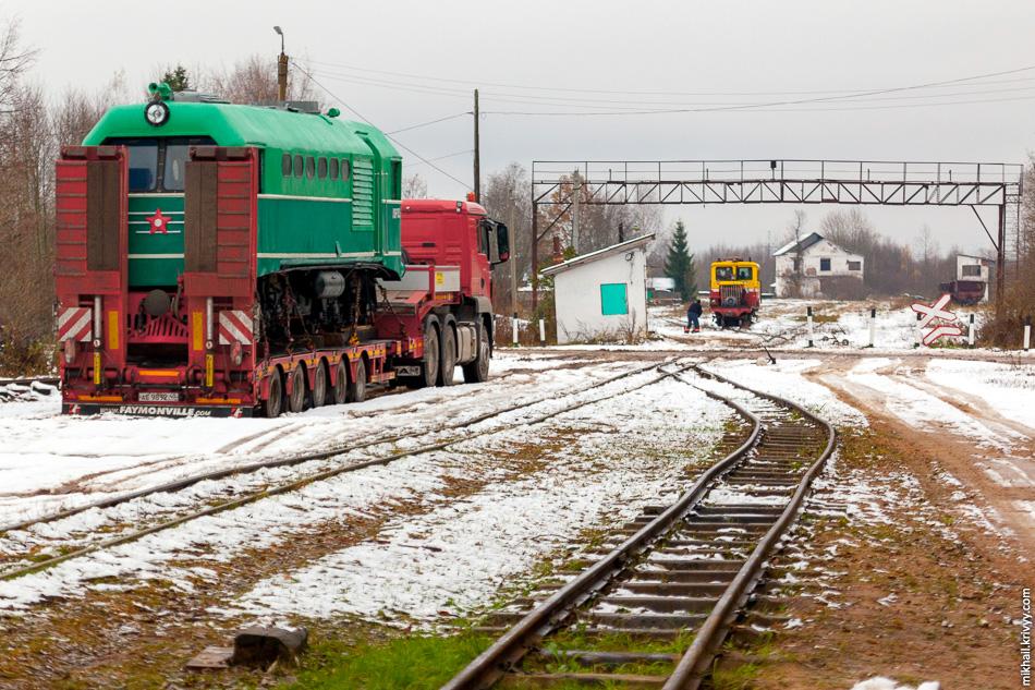 Тепловоз ТУ2-155 прибыл из Калуги днем ранее.