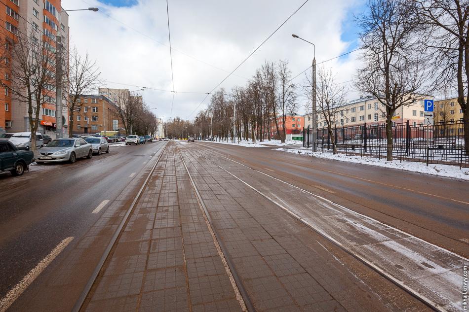 Трамвайные пути на улице 12 лет Октября. Выглядят достойно.